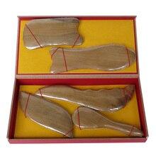 New high quality! Wholesale scented wood beauty face massage guasha set 5pcs/set (ITEM NO 10)