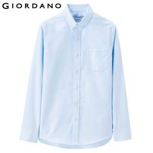 Image 2 - Giordano męskie koszule Oxford bawełna zmarszczek darmowe koszula długie rękawy Slim Fit dorywczo Camisa Masculina przycisk społecznej koszulka Homme