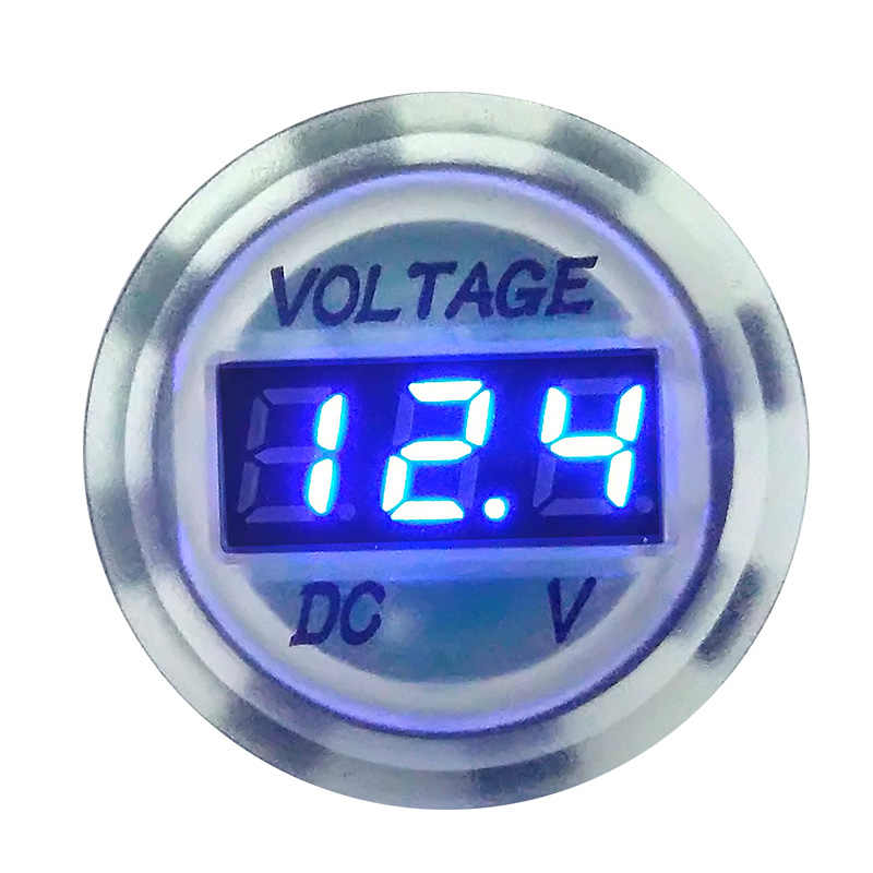 New Arrival Universal Mini Digital Voltage Meter Tester Voltmeter DC 12V 24V Blue LED Display Monitor for Motorcycle Car Boat
