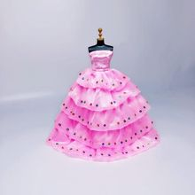 Doll clothes toy princess wedding dress fashion evening party dress long skirt for 30cm 1/6 doll accessories girl gift