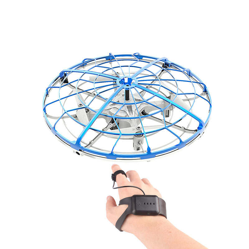 Interactive Induction Drone Toys Quadcopter Intelligent Watch Remote Control Ufo Drone Children Gift Led Rtf Uav Aircraft(China)