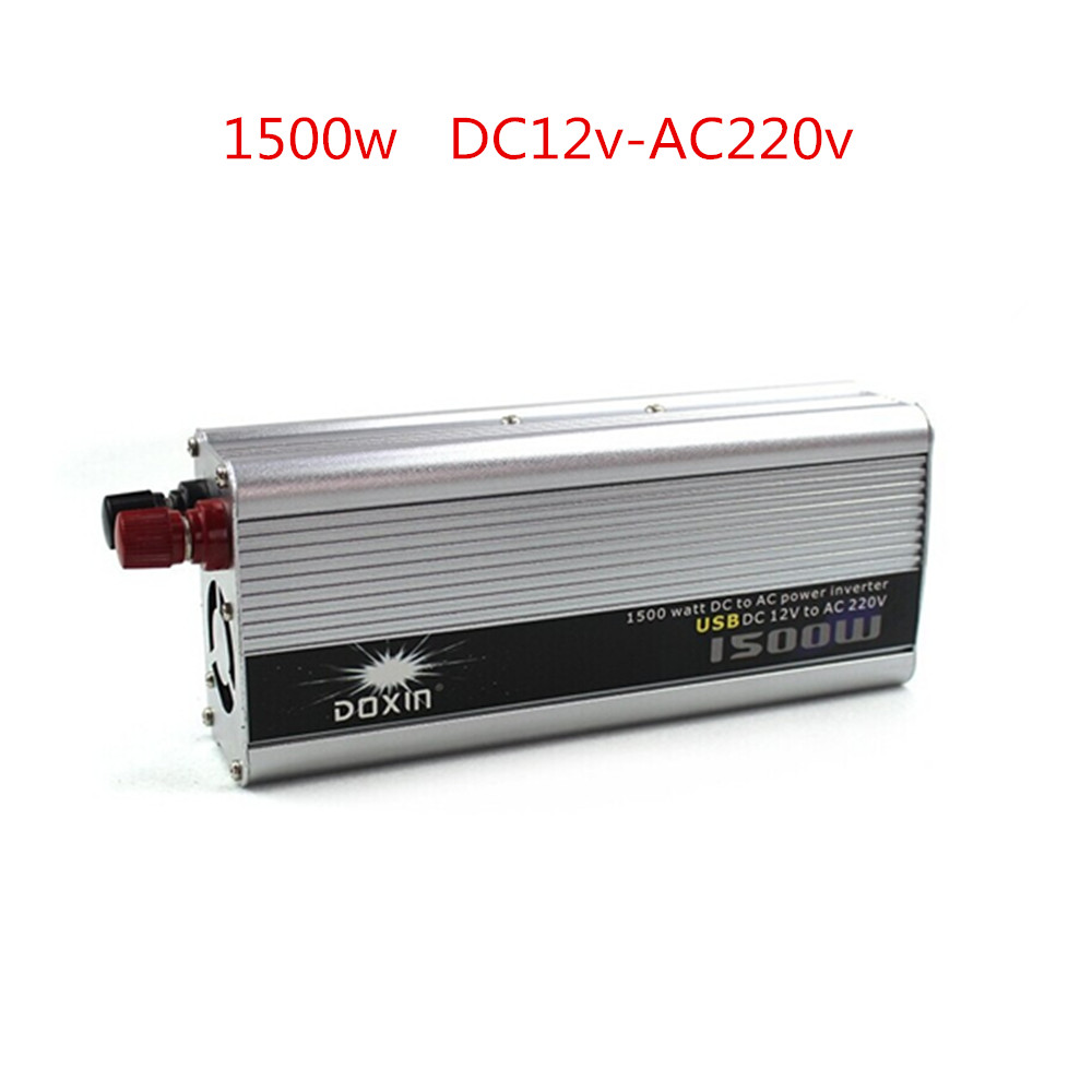 1500W 1500 Watt Modified Sine Wave Power Inverter Home Car DC 12V to AC 220 Converter + USB 1set dc12v 35w bixenon kit h4 bixenon h4 35w hid kit 35w h13 9004 9007 hi lo beam bi xenon 6000k 8000k 10000k