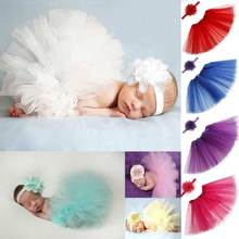 2017 Newborn Photography Props Infant Costume Outfit Princess Baby Tutu Skirt Headband Baby Photography Prop  -17 FJ88