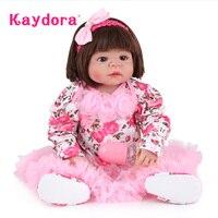 Kaydora 55 CM lol Reborn Lifelike Reborn Baby Dolls boneca bebe reborn Realistic baby reborn silicone inteiro Toys For Girls