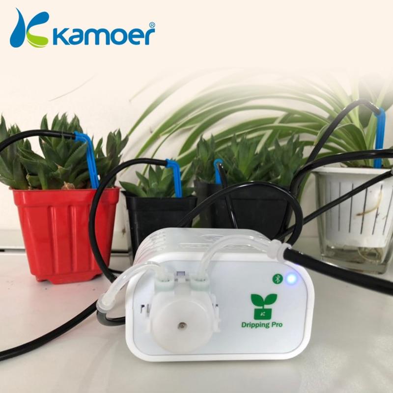 Kamoer téléphone portable contrôle bricolage dispositif d'arrosage automatique pompe à eau système de minuterie plantes succulentes/jardin outil d'irrigation goutte à goutte