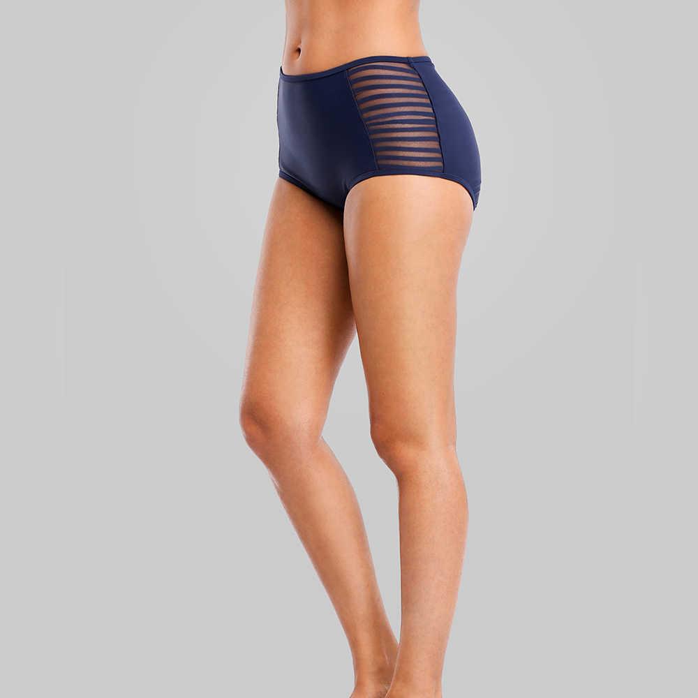 16da583d81c6a ... Charmleaks Swim Trunks Women Bikini Bottom Ban Solid Color Swimwear  Briefs Swimwear Split Cutout Swimming Trunks ...
