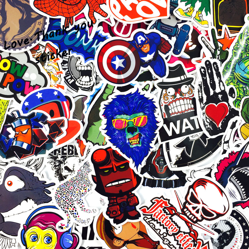 Image 5 - 1000 PCS Mix Style Stickers Fridge Skateboard Toys Cool JDM Doodle Decals Home Decor Luggage Car Styling Bike Laptop DIY Sticker-in Stickers from Toys & Hobbies