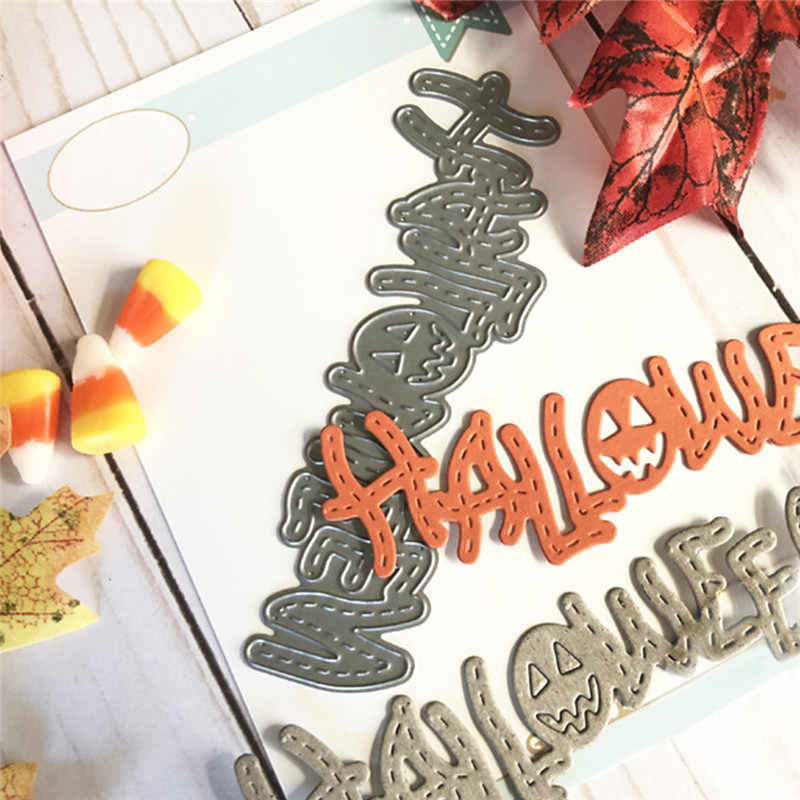 Halloween Letter Dies Word Metal Cutting Dies For Scrapbooking New Dies 2019 Die Cuts For Card Making DIYCuts Craft Stitch