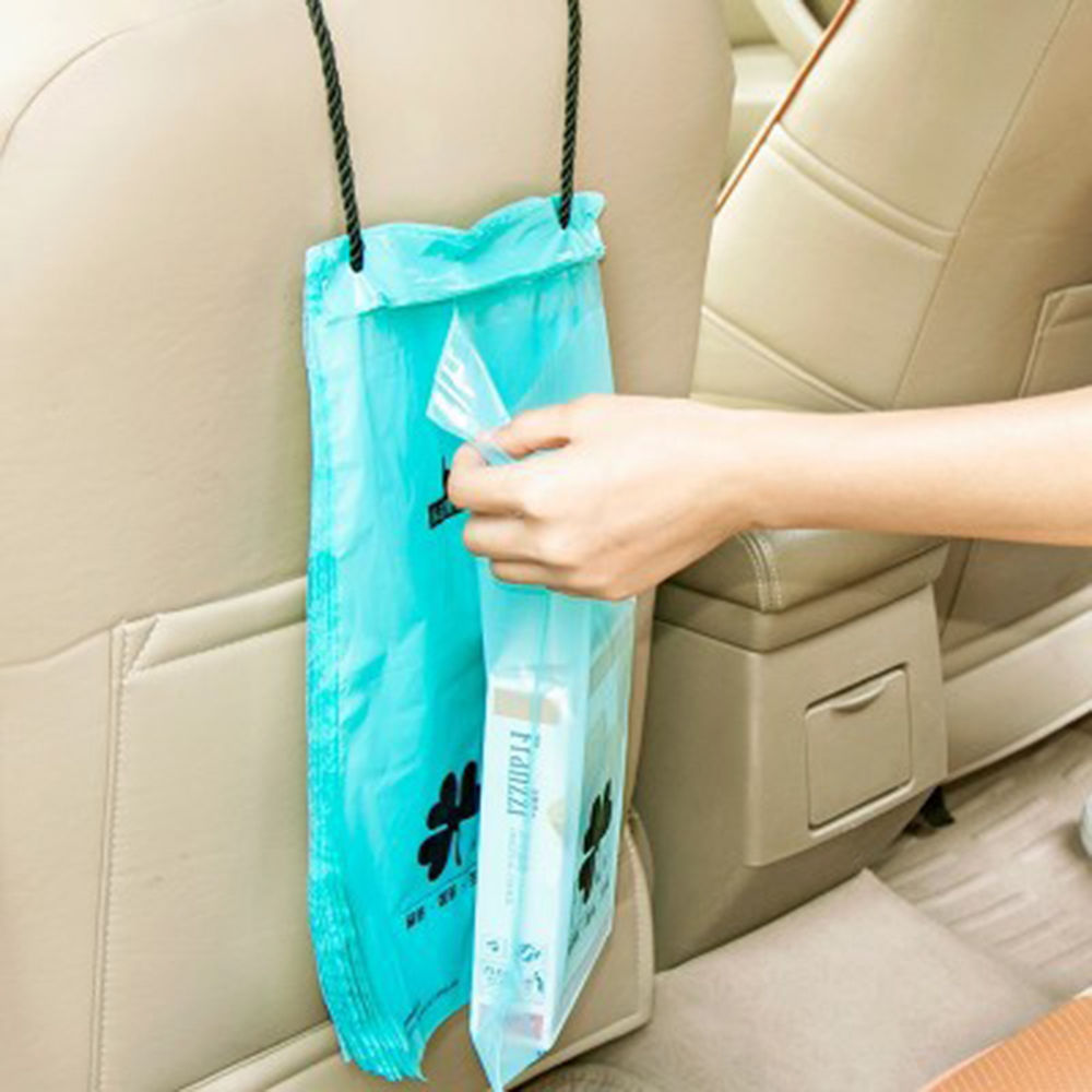 50Pcs Portable Car Trash Bags Hanging Resealable Plastic Kitchen ...