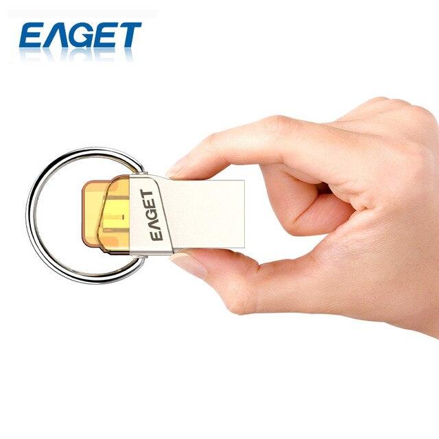 Eaget Original Mini Portable USB 3.0 High Speed 64G USB Flash Drive Pen Drive Storage Stick U Disk For Smartphone PC