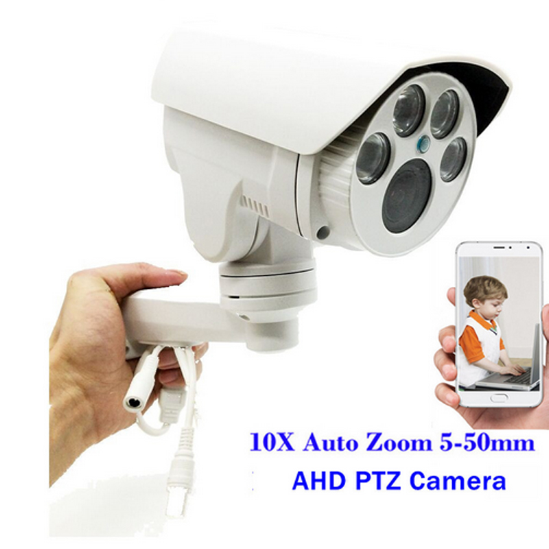 CCTV Full HD 960P/1080P PTZ AHD Camera 10X Optical Zoom 5-50mm Lens Autofocus Pan/Tilt/Zoom 1.3MP/2MP Outdoor Security Camera new 2mp hd cctv ahd camera 1080p zoom 2