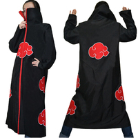 Free Shipping Hot Selling Naruto Cosplay Costume Naruto Akatsuki Uchiha Itachi Cosplay Cloak Hooded Plus Size