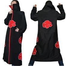 Halloween Coustume Hot Selling Naruto Cosplay Costume Naruto Akatsuki Uchiha Itachi Cosplay Cloak Hooded Plus Size