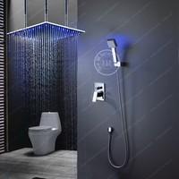 High quality BECOLA Brass Bathroom Super Deluxe Shower set and Big 20 LED shower head + LED hand shower B LED2020