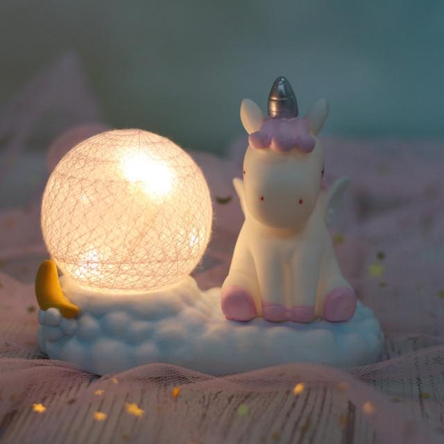 Resin Unicorn LED Night Light