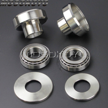 """1"""" ID Cups+ Timken Bearings + Races Plus + Dust Covers Front Fork Neck Cup for Harley Bobber Chopper Sportster Dyna"""