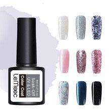 LEMOOC 8ml Glitter Gel 54 Colors Nail Polish Soak Off LED UV Gel Lacquer Long Lasting  Nail Varnish DIY Nail Art Lacquer
