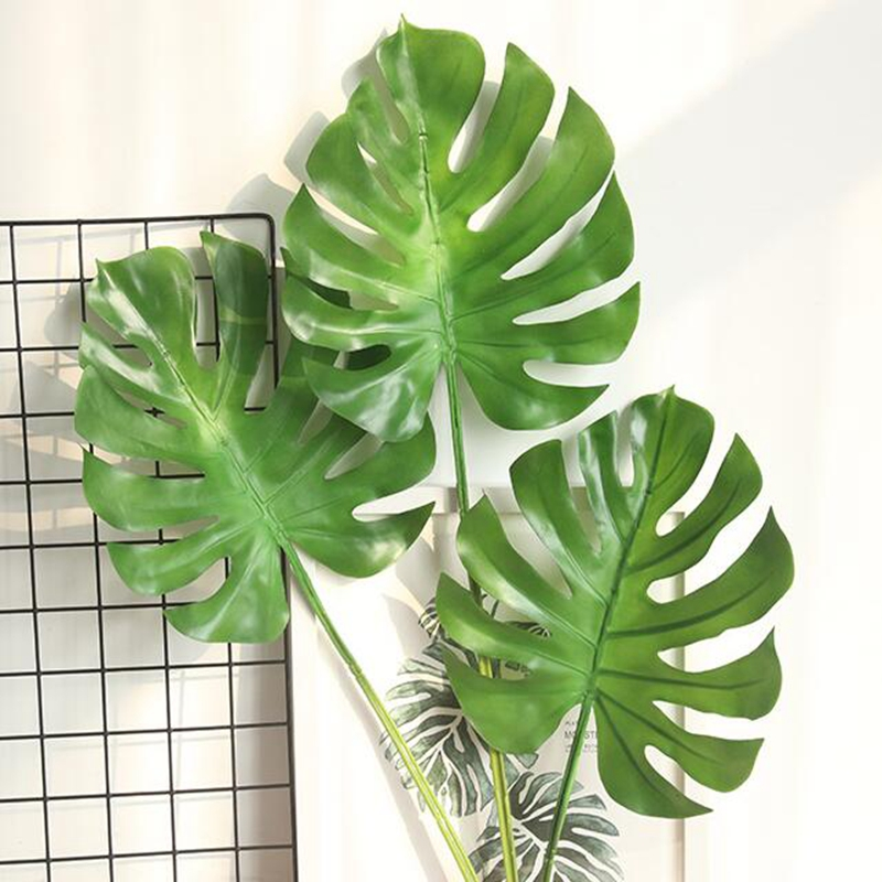 10 Pcs Mexican Autumn Green Turtle Artificial Plant Material Leaf Simulation Tropical Decoration