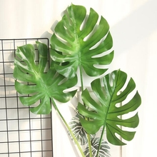 10 Pcs Mexican Autumn Green Turtle Artificial Plant Material Leaf Simulation Tropical Decoration