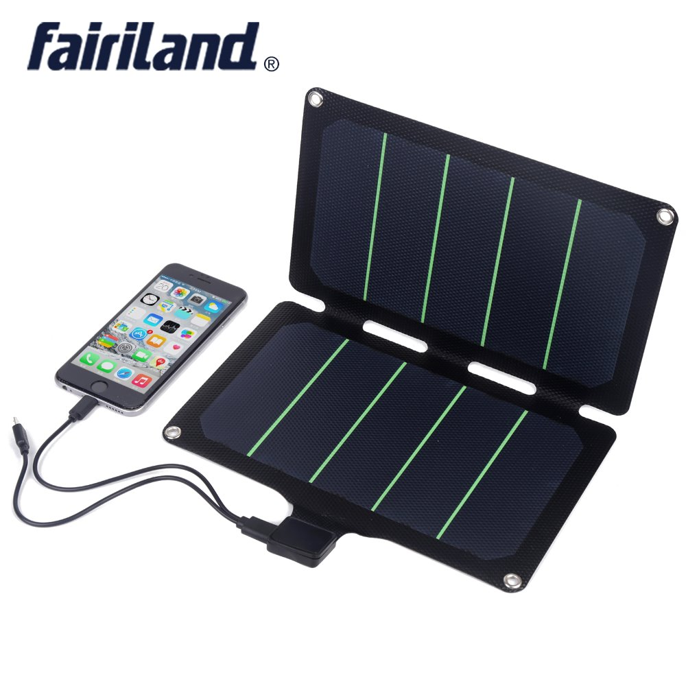 Ultralight 11W  Solar Charger waterproof foldable portable solar panels for camping hiking outdoor solar power generator
