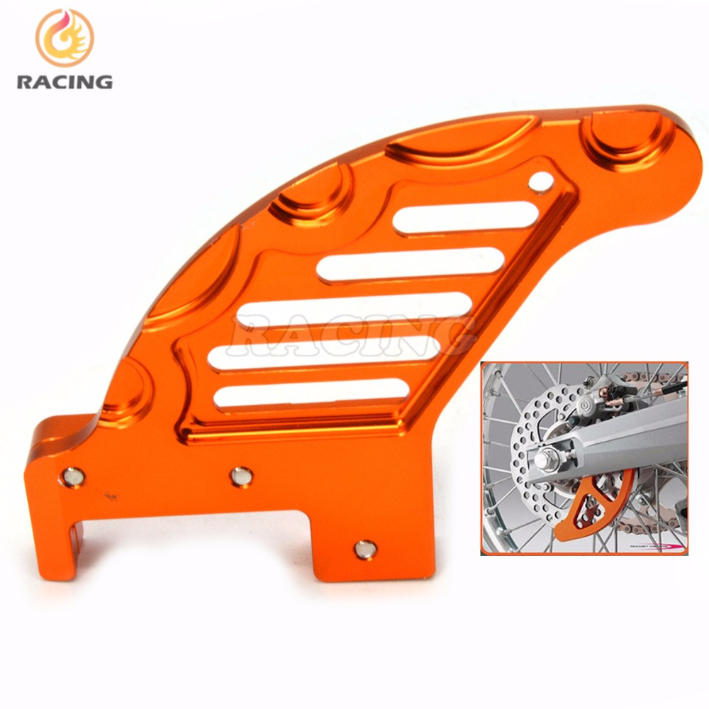 ФОТО moto Aluminum Billet Rear Brake Disc Guard Potector For KTM SX SXF XC XCW XCF EXC EXCF EXCR Motocross Dirt Bike Racing Enduro or