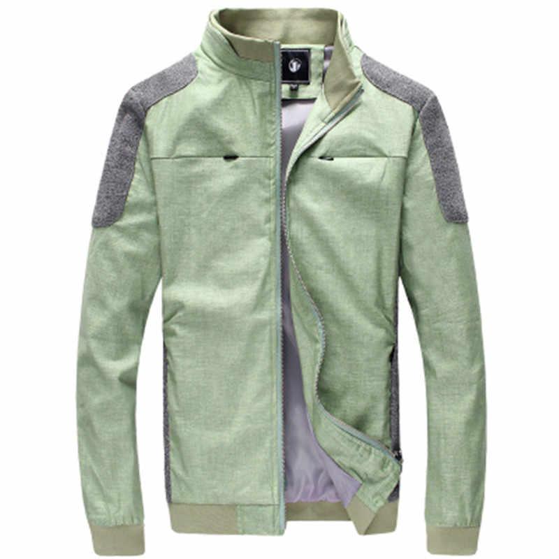 2018 Новая модная брендовая куртка мужская тренд в стиле пэчворк, зауженные мужские s Дизайнерская одежда хлопок мужская деловая Повседневная куртка Тонкий Slim