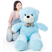 Stuffed animal 47 inch sky blue Teddy bear plush toy soft doll throw pillow gift w1682