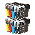 10 Ink cartridges LC980 LC1100 Compatible for DCP-145C DCP-165C DCP-167C & MFC-490CN MFC-490CW Printers
