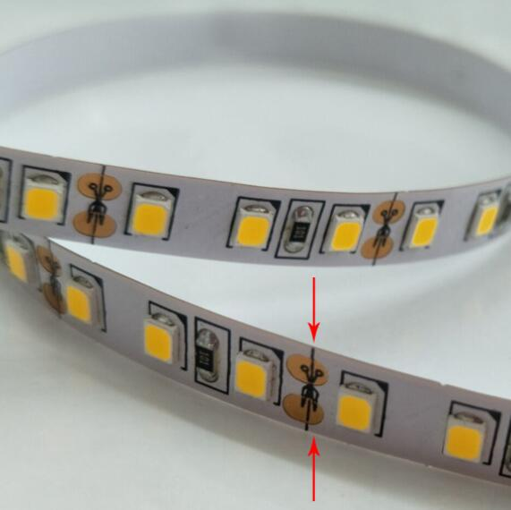5 m 600 LED s 3528 2835 LED bande lumineuse smd ruban LED blanc/blanc chaud/bleu/vert/rouge/jaune luminaria DC12V 120 LED s/m LED robinet