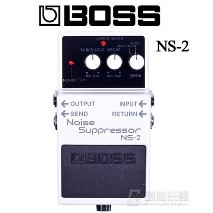 Boss Audio NS-2 Noise Suppressor Pedal for Guitar with Free Bonus Pedal Case