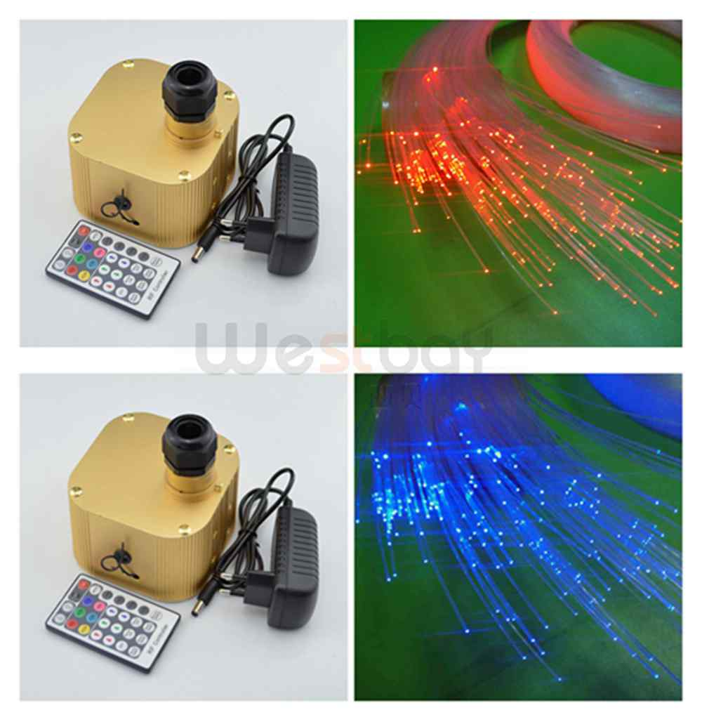 2016 New DIY Light Fiber Optic Star Ceiling Lights Kit 200pcs 0.75mm 2M optical fiber+Cree chip 16W RGBW Twinkle Light Engine 2016 newest touching panel controller 16w rgbw led optic fiber light engine 150pcs 0 75mm 2meter optic fiber diy light