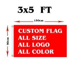 3x5ft bandiera personalizzata qualsiasi logo qualsiasi parola qualsiasi stile di qualsiasi dimensione per pubblicitaria, festival, attività bandiera personalizzata con veloce spedito