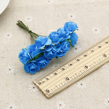 Promotion! paper flowers mini rose wreath of DIY wedding creative material 12pcs/bunch 1.5CM