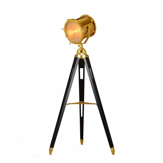 Post modern tripod antique floor lamp searchlight living room post modern tripod antique floor lamp searchlight living room bedroom archaize wood holder individual gold aloadofball Gallery