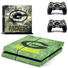 NFL Green Bay Packers PS4 Autocollant de Peau de Vinyle de Décalque Pour Sony PS4 Console Playstation 4 Et 2 Manettes Autocollants