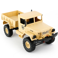 1:16 DIY Military Four wheel Drive Off road Remote Control Climbing Car Model For WPL B 1