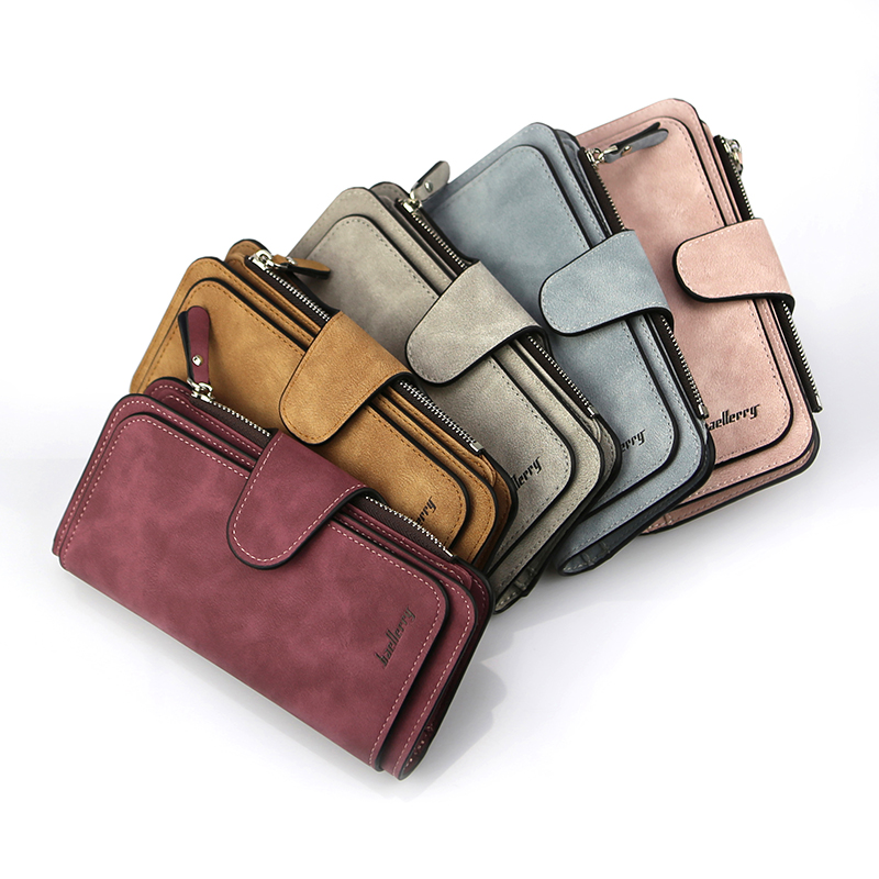 Baellerry Female Purse Card-Holder Clutch Pocket Women Wallets Zipper Luxury Hasp Casual