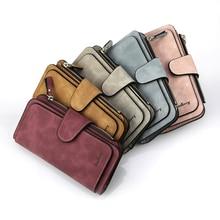 Baellerry Wallet Women Leather Luxury Card Holder Clutch Casual Women Wallets Zipper Pocket Hasp Ladies Wallet Female Purse W196