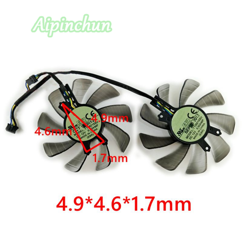 4Pin T129215SU 85mm DC 12V 0.50A Graphics Card Cooling <font><b>Fan</b></font> For <font><b>GTX</b></font> <font><b>760</b></font> GTX460 HD6790 GTX650Ti Video Card Cooler <font><b>Fans</b></font> image