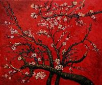an Almond Tree in Blossom Vincent Van Gogh oil painting Floral canvas wall art
