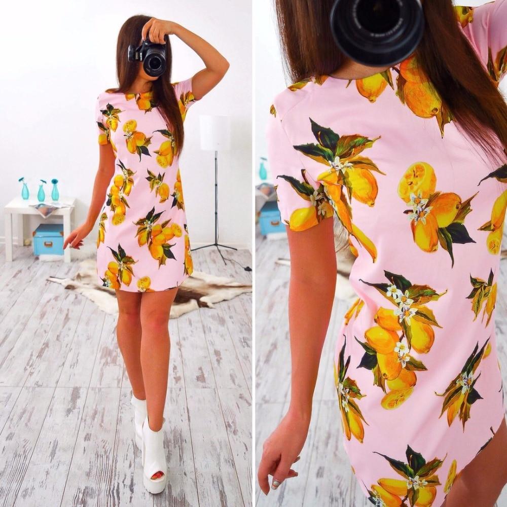 Ermonn 2017 recién llegado de ucrania summer dress casual lindo straight imprimi