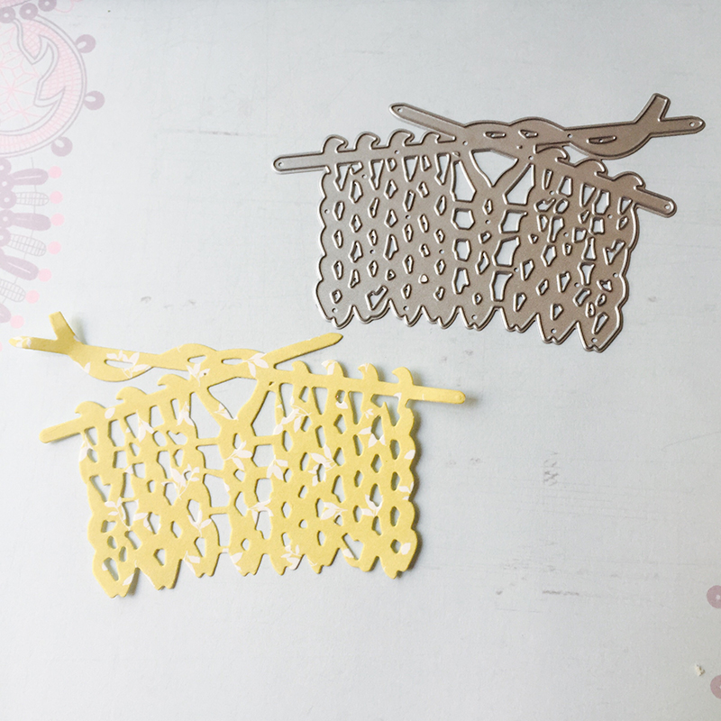 Knitting Wool Metal Cutting Dies Scrapbooking Diy Album Embossing