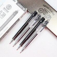 Press Type Gel Pen Black Ink 0.38mm Office Supplies Stationery Gel Pens For Students