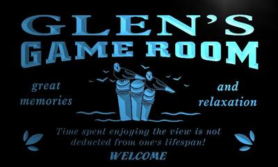 x0188-tm Glens Beach House Game Room Custom Personalized Name Neon Sign Wholesale Dropshipping On/Off Switch 7 Colors DHL