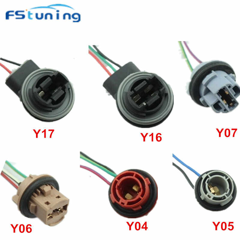FStuning 10pc T20 7440 7443 T25 LED Bulb Socket for led Lamp Light BA15S 1156 1157 BAY15D led Socket cable Connector Bulb Holder