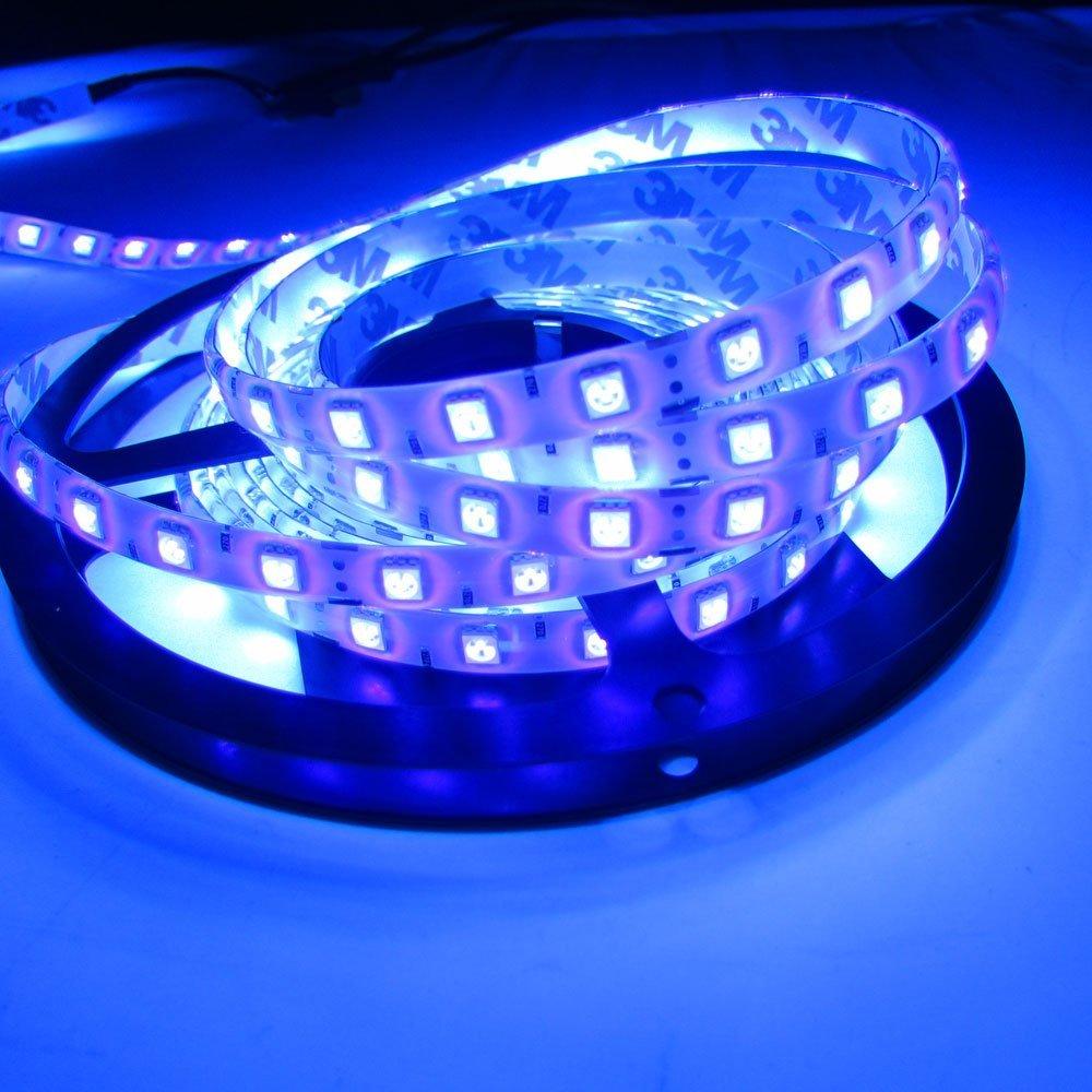 LED BLB 5050 Led UV สีม่วง 395nm-405nm 5 เมตร 300 SMD ไฟ Flex 12 โวลต์ DC 16.4ft
