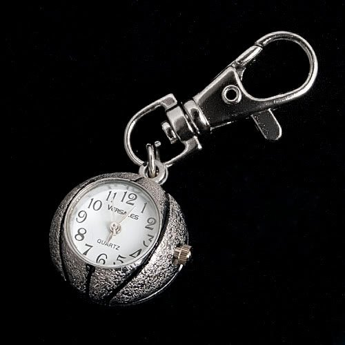 New Arrival Large Quantity 100 Girls VW Silver Basketball Keychain Pocket Watches VW101