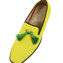 цена 2016 summer Tassel Men Loafers Leather Slipper Smoking Slip ons alpargatas luxury footwear Party Wedding Dress Shoes Men's Flats онлайн в 2017 году