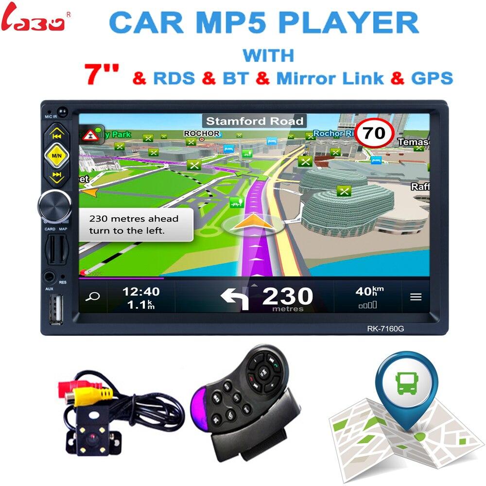 Lecteur DVD GPS de voiture 2 Din chaud prise en charge HD recul vue arrière Bluetooth USB SD CD radio 2DIN pour Nissan Volkswagen Peugeot Toyota