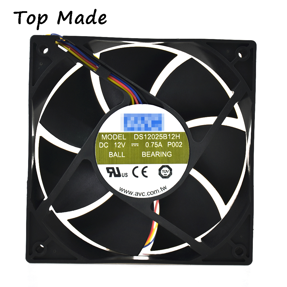 For AVC DS12025B12H <font><b>120mm</b></font> * 25mm High Airflow <font><b>PWM</b></font> <font><b>Fan</b></font> 104 CFM 4 Pin Replacement image